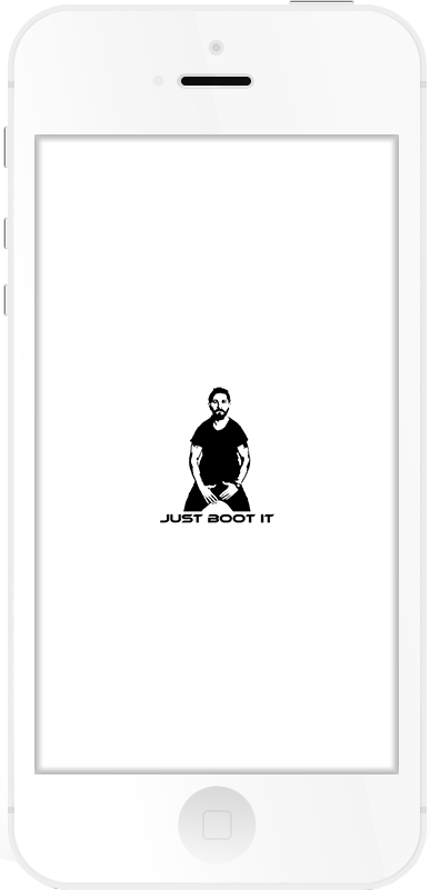 JUST BOOT IT Respring Logo White example