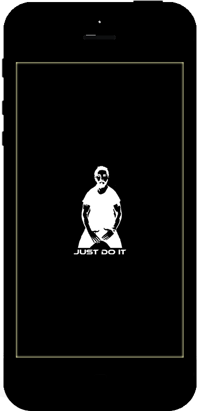 JUST DO IT Respring Logo Black example