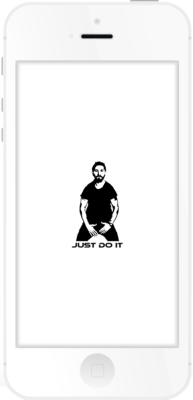 JUST DO IT Respring Logo White example