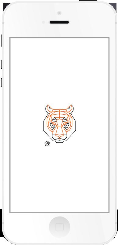 Run4Tiger Respring Logo White example